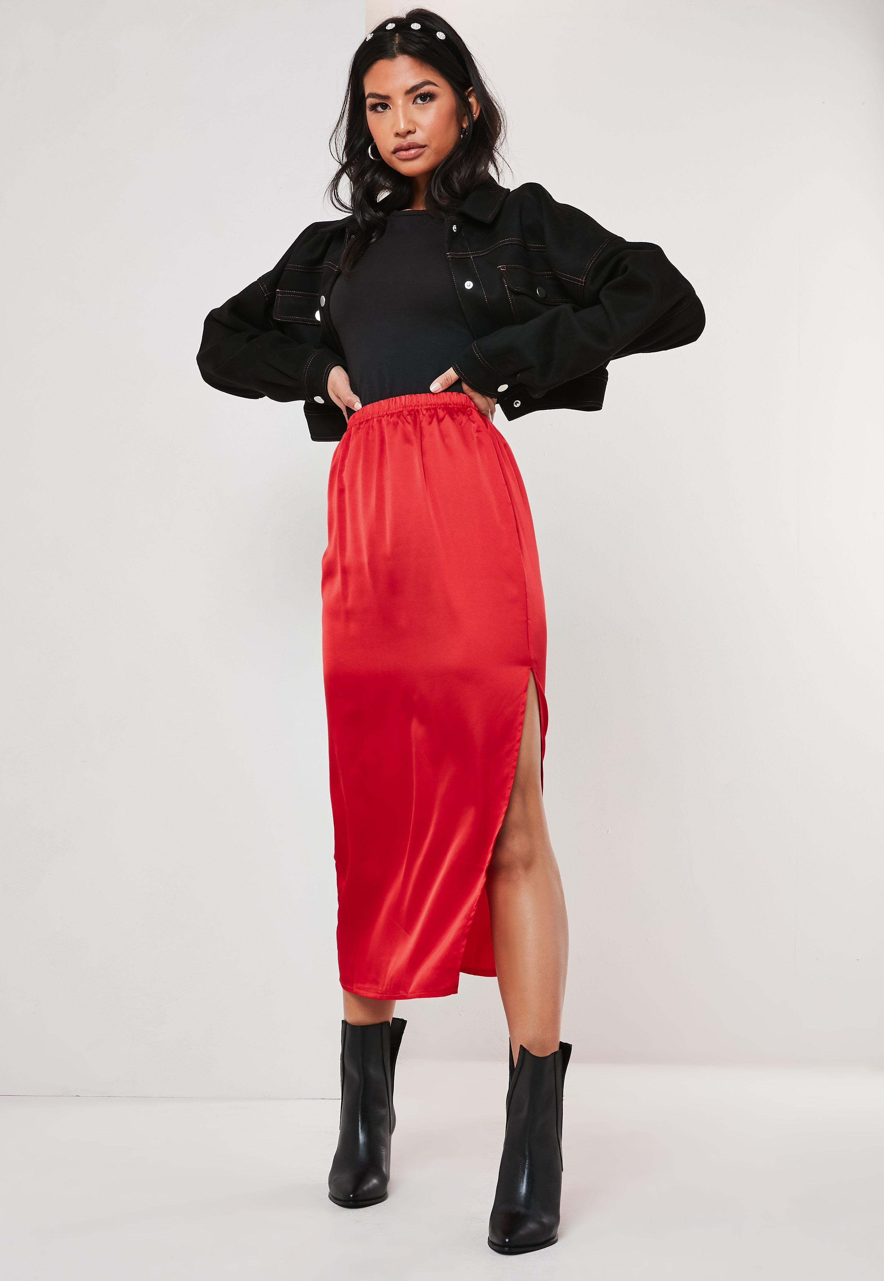 260a8d0628 Red Skirts | Women's Scarlett & Maroon Skirts | Missguided