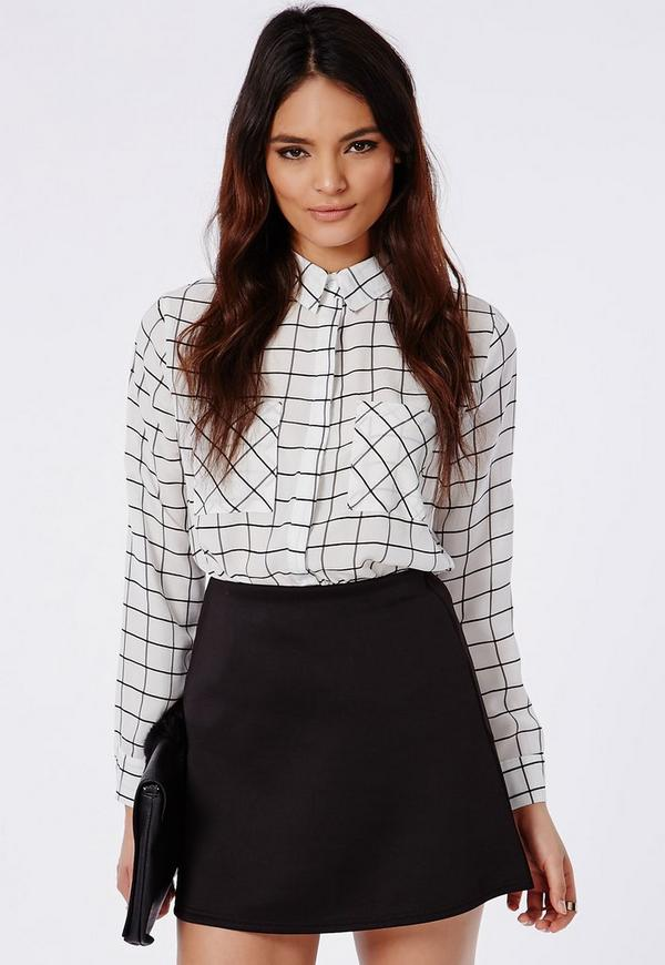 Black A Line Mini Skirt