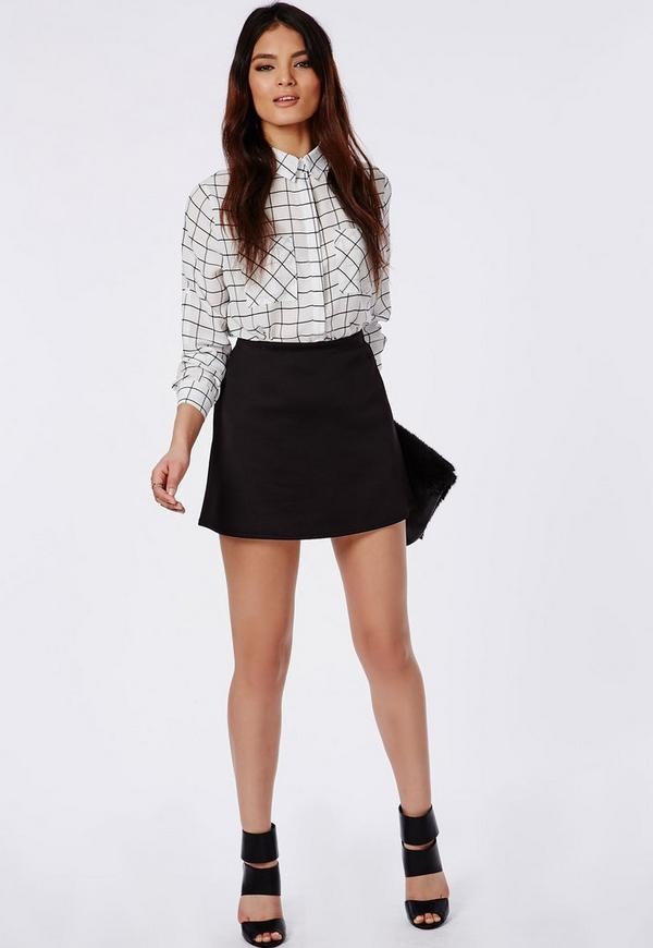 lubiana black a line mini skirt missguided