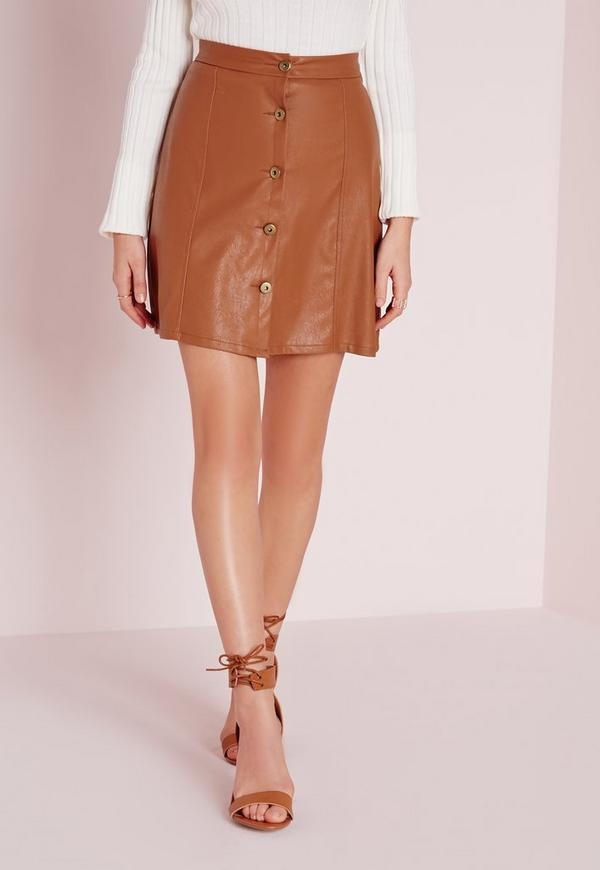 button faux leather mini skirt missguided australia