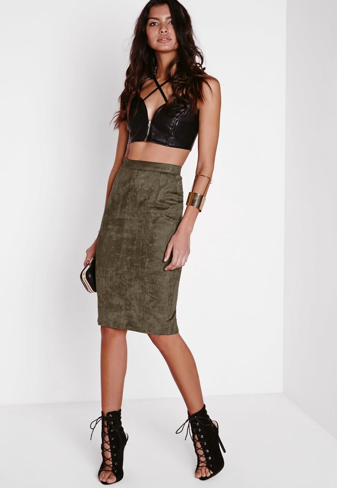Suede Skirt - Faux Suede Skirt | Missguided
