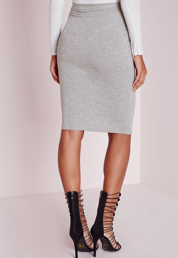 pleated wrap waist midi skirt grey missguided