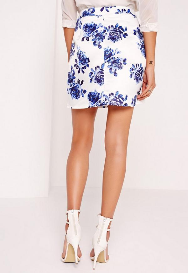 Floral Print Mini Skirt 33