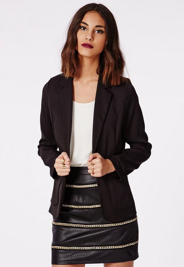 Graccie Chain Detail Faux Leather Mini Skirt