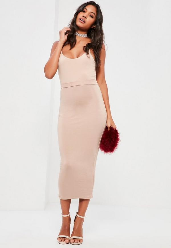 9d1fa5c65 Longline Jersey Midi Skirt Nude | 2019 trends | xoosha