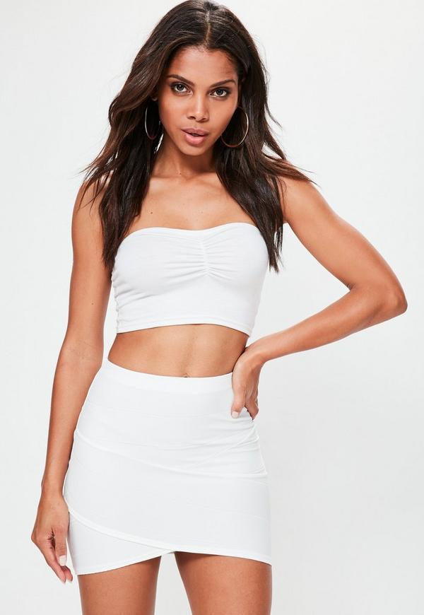 Bandage Mini Skirt Black - Missguided