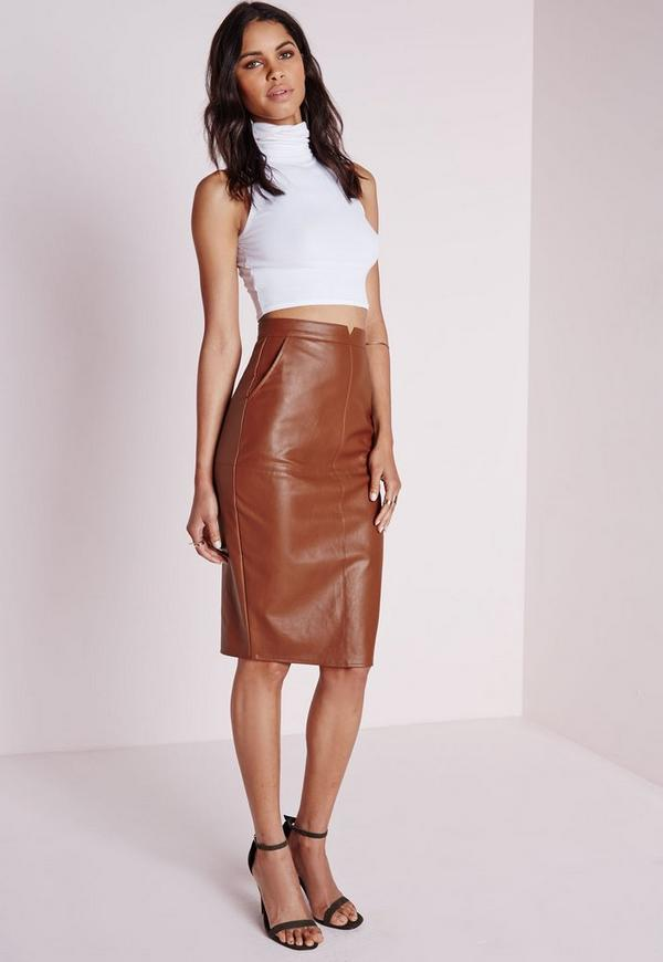Faux leather midi skirt australia | Global trend skirt blog