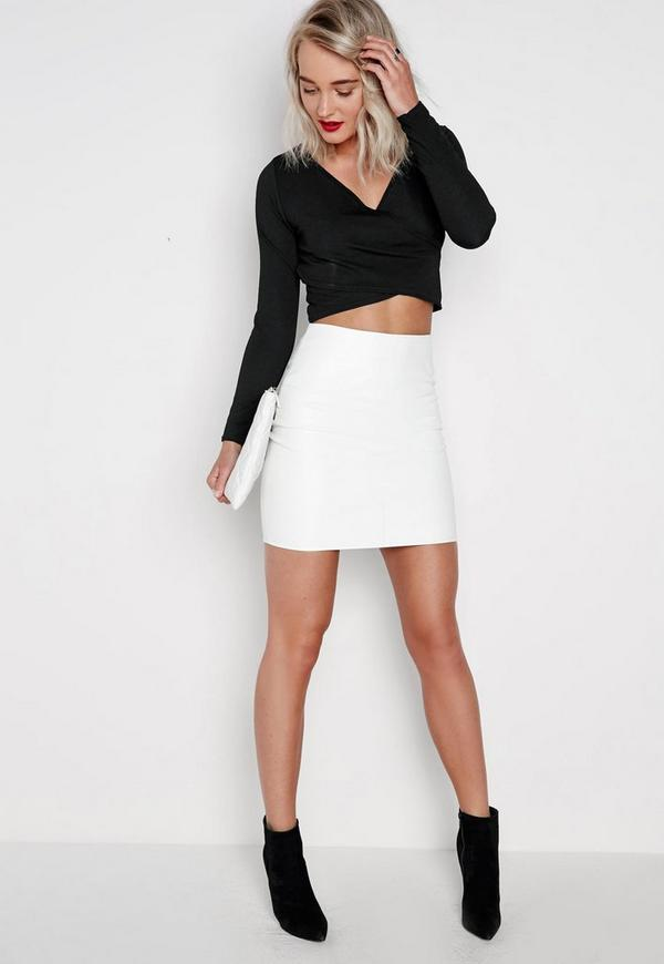 Missguided White Leather Skirt - Dress Ala