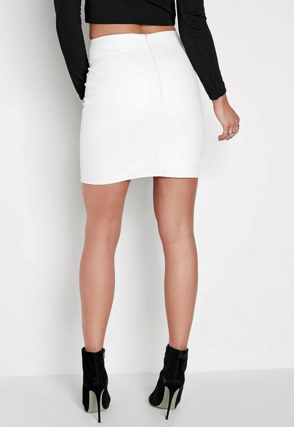 white faux leather mini skirt missguided australia
