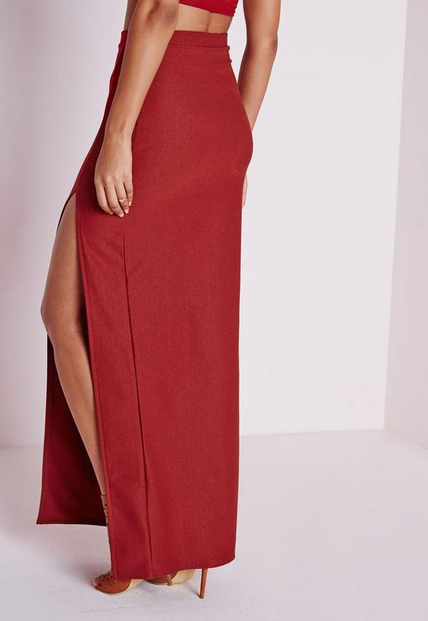 thigh high split maxi skirt terracotta skirt maxi