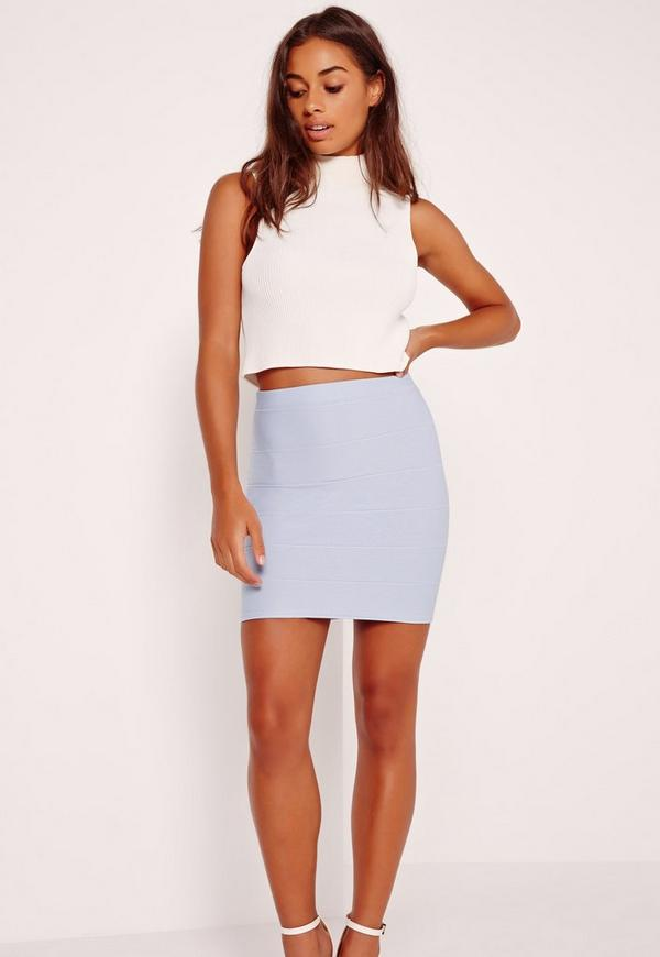 Bandage Mini Skirt Blue