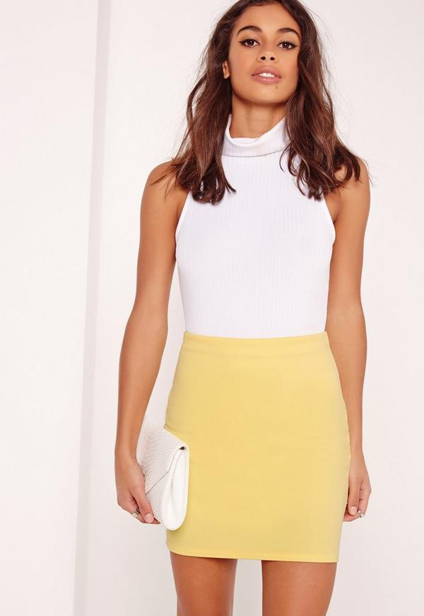 Scuba Mini Skirt Yellow