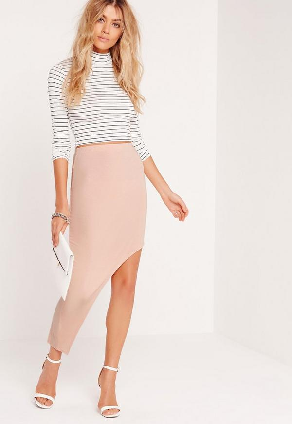 Asymmetric Skirt Nude