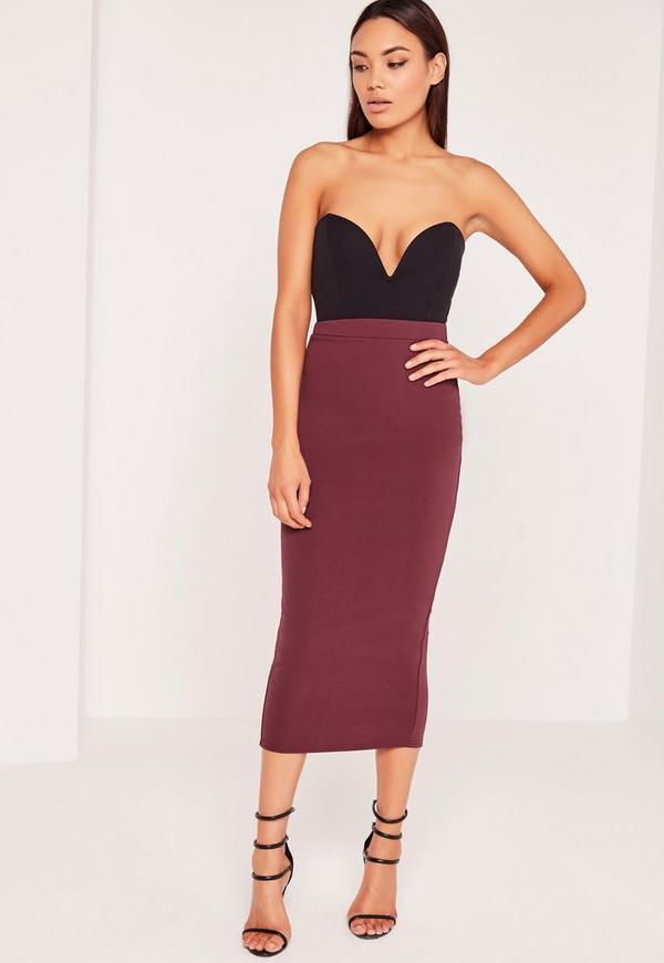 Burgundy Pencil Skirt 69