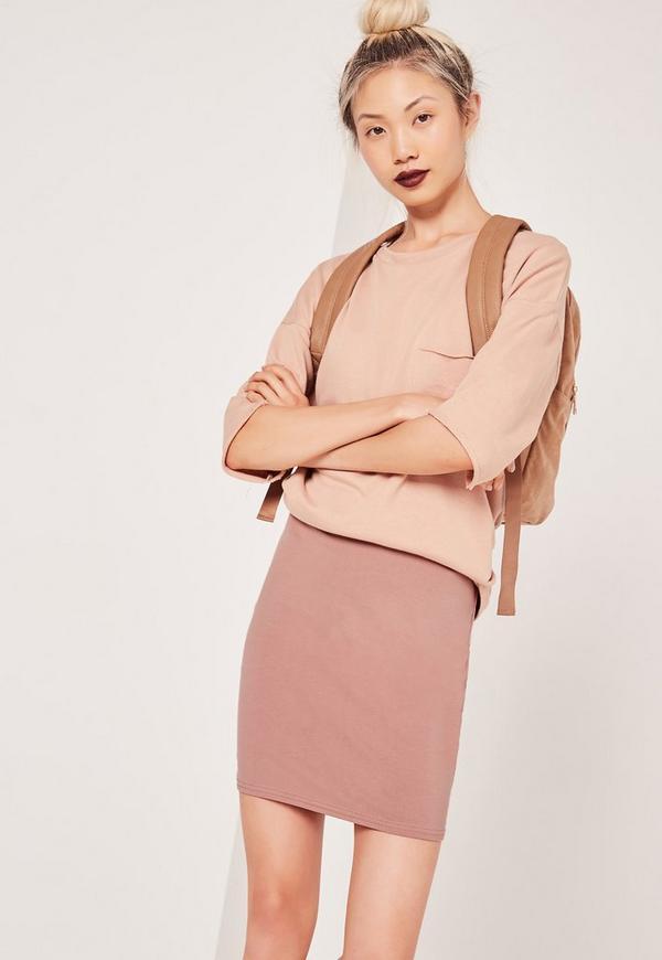 Jersey Mini Skirt Pink