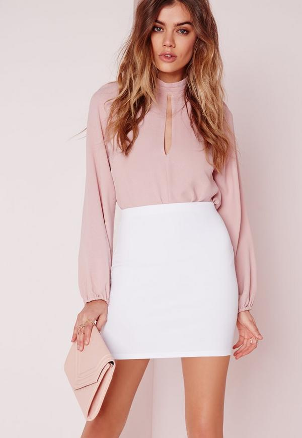 Scuba Mini Skirt White