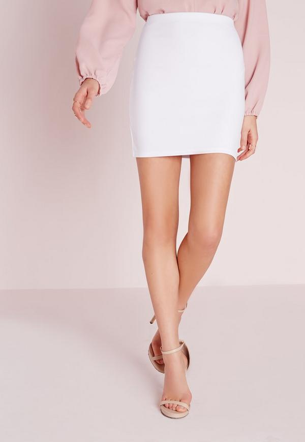 Scuba Mini Skirt White | Missguided