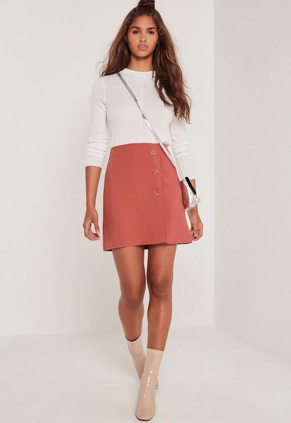 Popper A Line Skirt Pink
