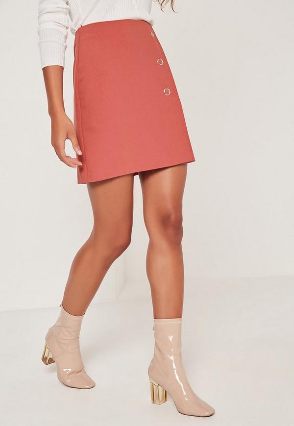 popper a line skirt pink missguided australia