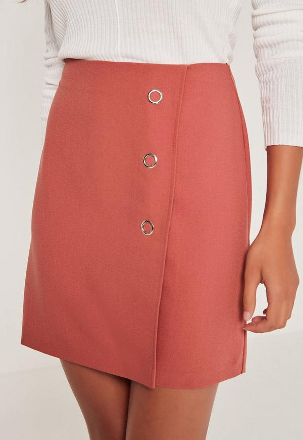 popper a line skirt pink missguided australia