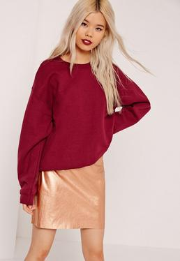 Faux Leather Mini Skirt Gold