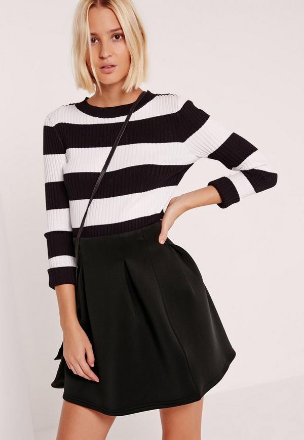Full Scuba Mini Skirt Black