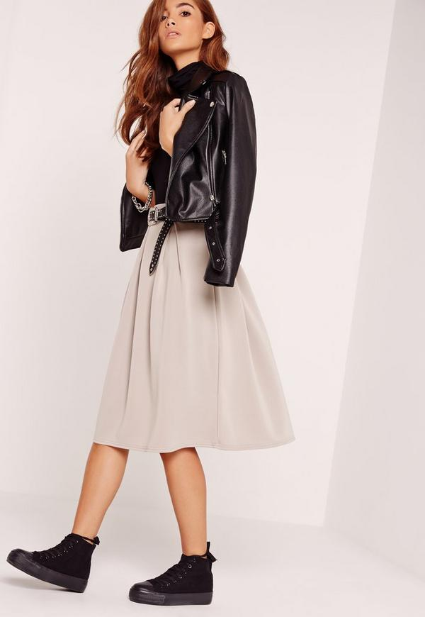 Full Midi Skirt Grey