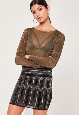 Premium All Over Embellished Mini Skirt