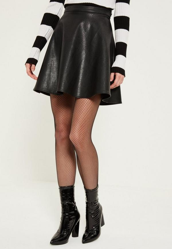 black faux leather mini skirt missguided