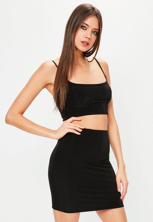 Black Slinky Mini Skirt