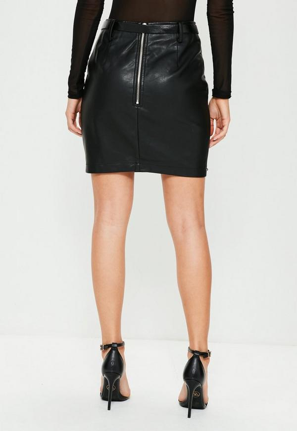 a611d5f2486 Black Belted Stud Detail Faux Leather Mini Skirt. Was  36.00. Now  22.00  (39% off). Previous Next