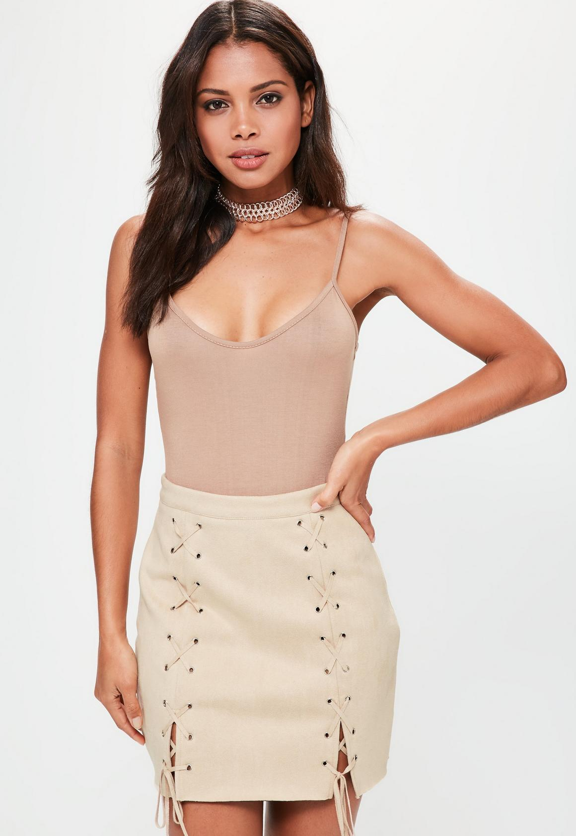 Image result for missguided lace up skirt