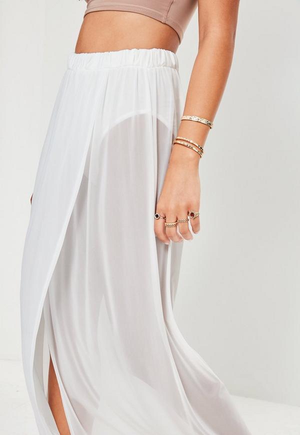 jupe longue blanche en tulle missguided. Black Bedroom Furniture Sets. Home Design Ideas