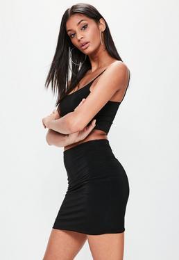 Mini-jupe noire moulante