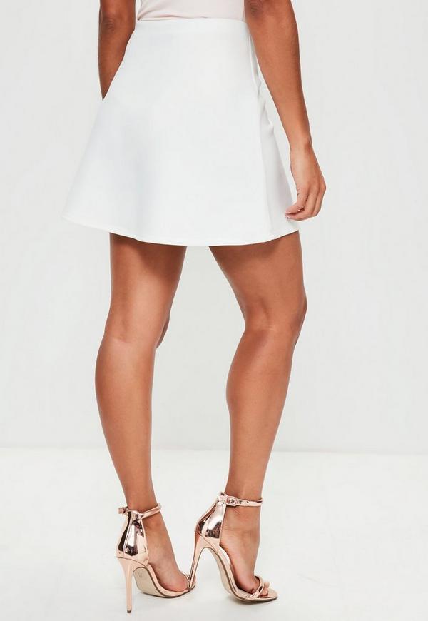 f8337cc86a05 White Scuba A Line Mini Skirt | Missguided