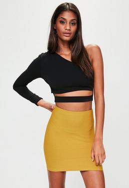 Minifalda bandage en amarillo