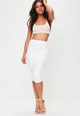 White Bandage Midi Skirt