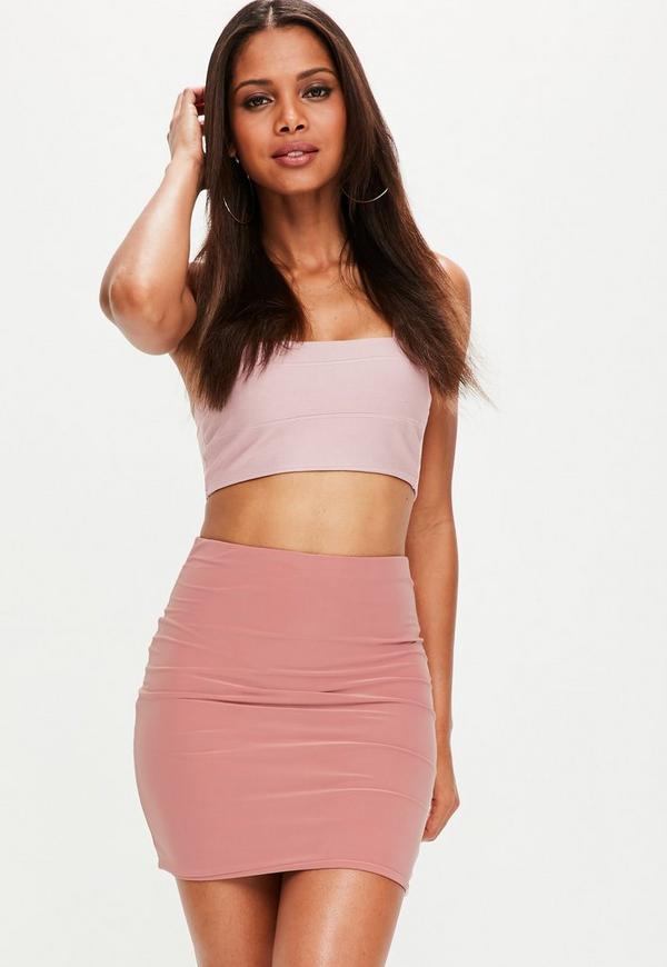 Pink Slinky Mini Skirt