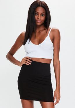 Minifalda elástica en negro