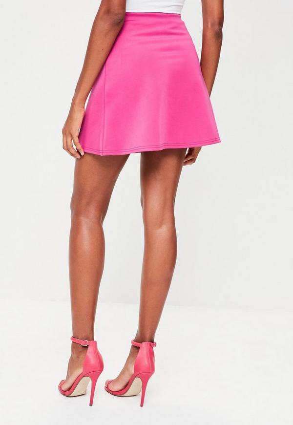 Pink mini skirt