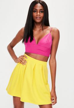 Yellow Scuba Skater Skirt