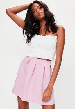 Pink Scuba Skater Skirt