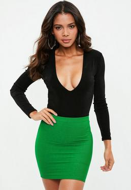 Green Bandage Mini Skirt