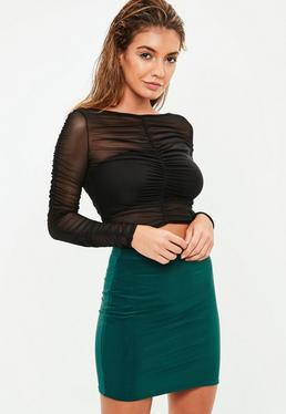 Green Slinky Mini Skirt