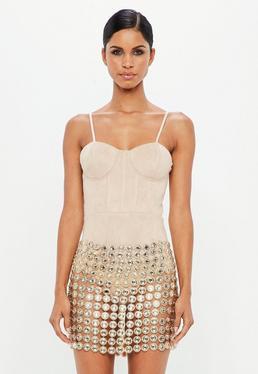 Peace + Love Gold Crystal Skirt Piece
