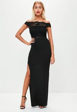 Black Slinky Ruched Maxi Skirt