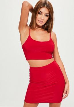 Red Slinky Mini Skirt