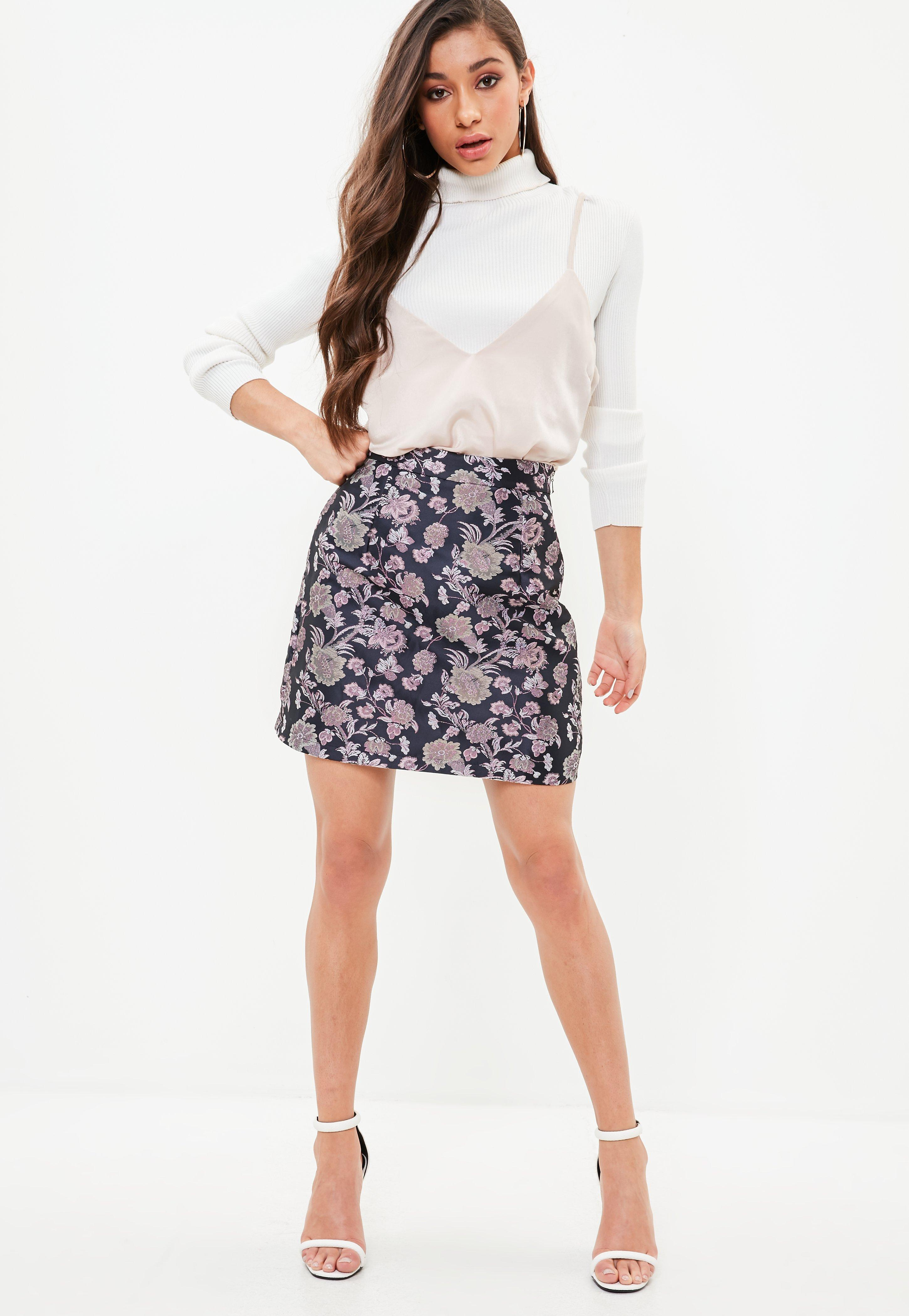 Outlet Pay With Visa Missguided Navy A-Line Jacquard Mini Skirt Huge Surprise Online Free Shipping Footaction Cheap Discounts Buy Cheap Store 1NllcN