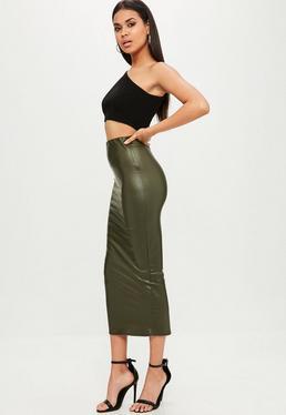 Green Midaxi Skirt