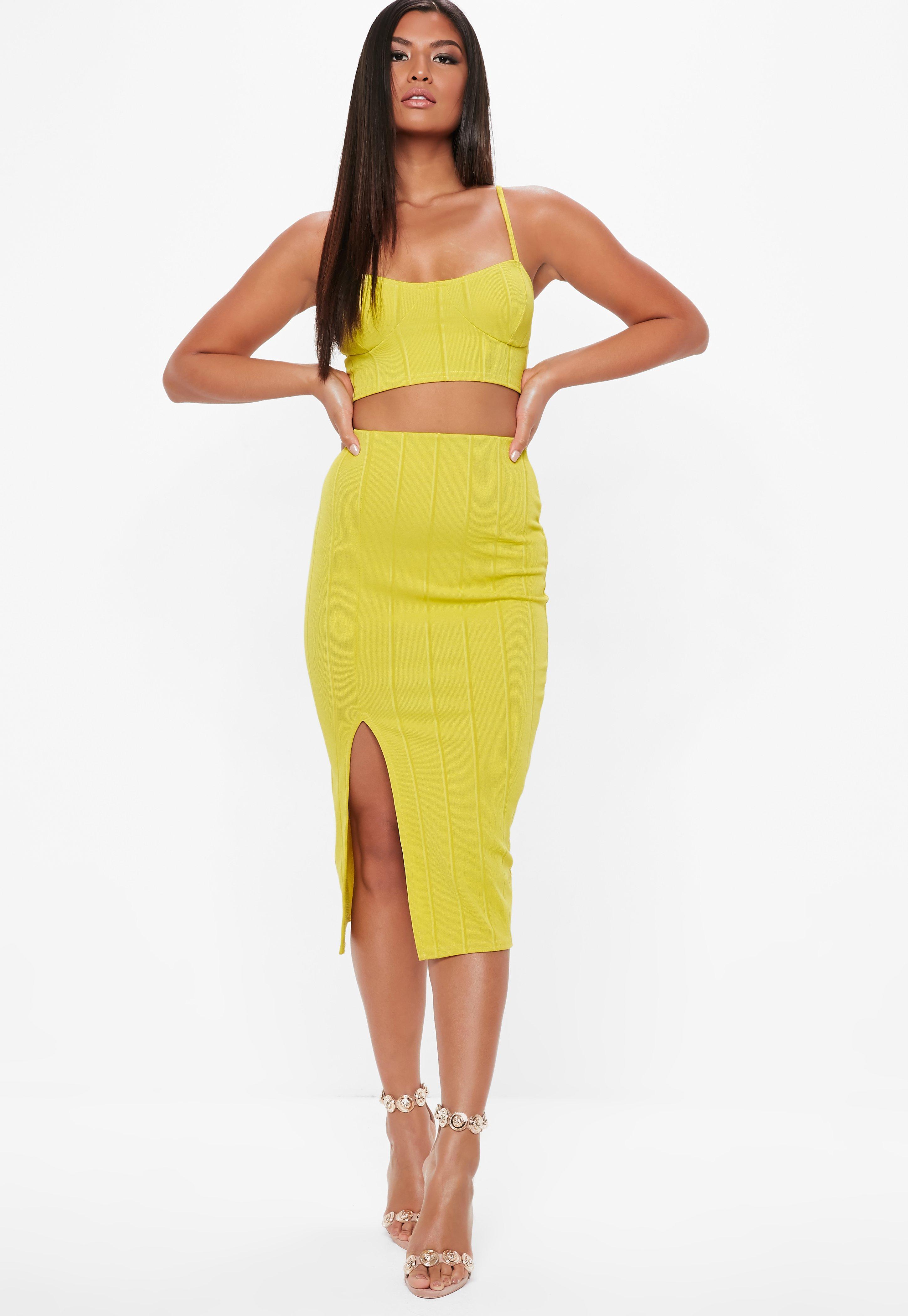 Discount Footlocker Outlet Good Selling Missguided Bandage Side Split Midi Skirt Visit New Cheap Online Buy Cheap Price r7ZlzhIX